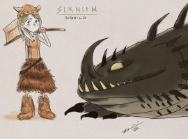 Sighild and Thunder - HTTYD Oc's by Nami-chwann