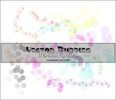 Vector Bubbles Brushes by NadiannaStock