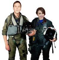 Justin Nozuka and Lily Collins Do Top Gun 1 by BlueWolfRanger95