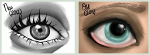 Eye Practice - Before and After by StrawberrieCandie