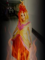 Looks like a girl, but she's a flame by Gabils