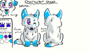 reference sheet oc character (sky) by eyelessjack117