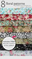 Katibear-Stock Floral Pattern Pack by Katibear-Stock