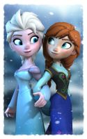 Disney's Frozen - Elsa and Anna by Irishhips