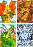 Dragons for All Seasons by lemurkat