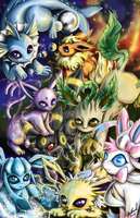 Eeveelutions by Dark-kitten158