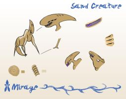 Sand Creature Features by spiralstatic13