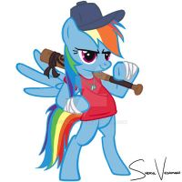 Rainbow Dash TF2 Scout by svedamani