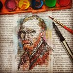 vincent van gogh portrait newspaper by ahmetbroge