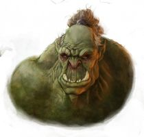 Orc Paint Style Test by DamonWestenhofer