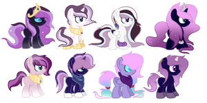 CMSF - Nightmare Rarity x Celestia [CLOSED] by Pikadopts
