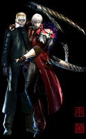 Wesker and Dante by xiaofeihui
