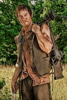 The Walking Dead: Daryl: Crayon Sketch Re-Edit by nerdboy69