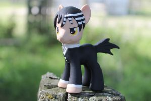 My Little Pony Custom Death the Kid Souleater by TiellaNicole
