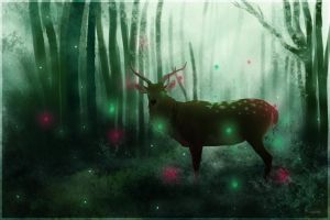 Forest spirit. by Kerwana