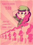 Pinkie's Laughter Army Propaganda by TheRandomJoyrider