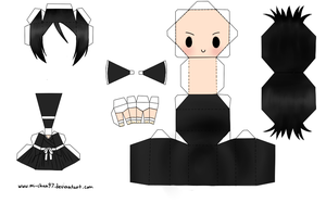 Rukia Papercraft Template by Mi-Chan97