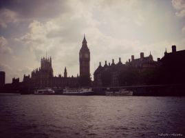 River Thames, Parliament and Big Ben by MaRyS90