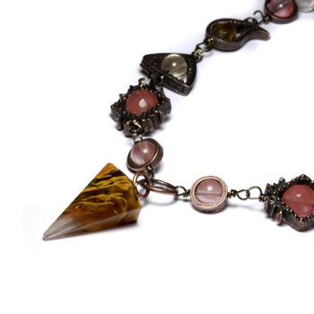 Steampunk Necklace Volcano by CatherinetteRings