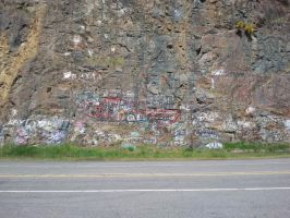 Graffiti on a Mountain by ThatBlueGuy