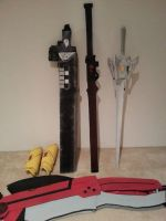 RWBY Props ALL DONE by Ninja-Dee