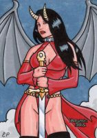 Dungeon Dolls Sketch Card 4 by ElainePerna