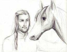 Eomer WIP by Melibells