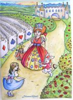 Alice in wonderland 2 by DioneeMeli