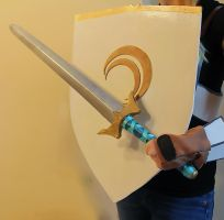 Jaune Arc's Sword and Shield: Crocea Mors by DraconicEye