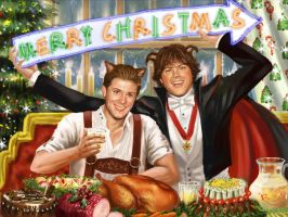 Merry Christmas J and J by firebolide