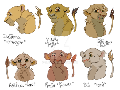 Bunch of characters 5/8 - Desert Lionesses by Olphey