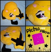 Gizamimi Pichu mini Pillow by Marki-san-Design
