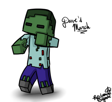Minecraft drawing: Dave the Zombie by Jojoful7