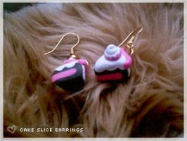 DIY Cake Slice Earrings Yummy by numb-existence