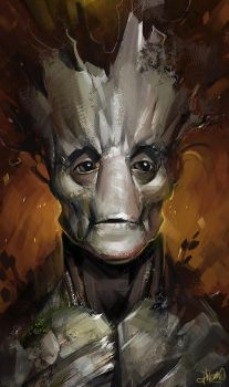 Groot sketch by Kostya-PingWIN