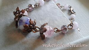 Purple pink and bronze victorian bracelet WTD1 by aisforgrlsnamedamber