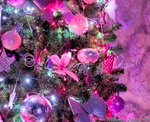 Pink Christmas Tree by Qtsy