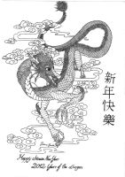 Chinese Dragon lineart by MagicalDragon8