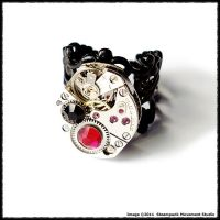 Steampunk Vampire Ring by SoulCatcher06