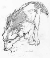 Wolf Sketch by LoneWolfTori