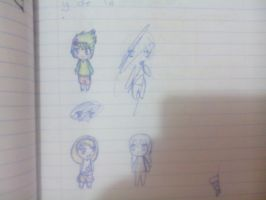 what I do in math class XD by clayfangirl