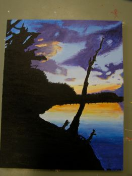 sunset painting by Imsome0ne3lse