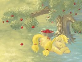 Sleepy Applejack by Hobbes-Maxwell