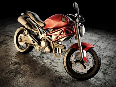 Ducati Monster 696 by veddex