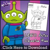 Lego Alien Coloring Page by SKGaleana by SKGaleana