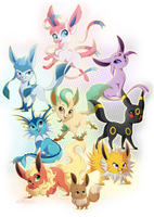 Eeveelutions by dennyvixen