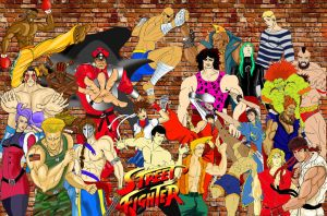 THE STREET FIGHTERS by myroboto