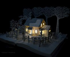 House in a Field Book Sculpture by MalenaValcarcel