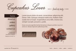 cupcakes lover web interface by handfree