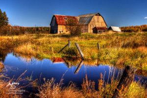 HDR Autumn Barn 3 by Nebey
